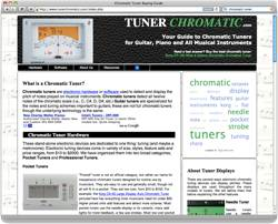 Screen cap of TunerChromatic.com
