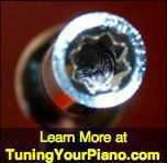 piano tuning lever hammer star head